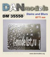 DM35550 DANmodel Трафарет. Кляксы, брызги, пятна