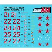 AMD148023 Advance Modeling 1/48 Декали для Суххой-25CМ из состава Авиационной Группы ВКС России в Сирии, аэродром Хмеймим