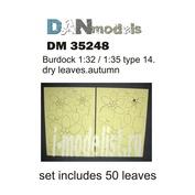 DM35248 DANmodel 1/35 Набор сухих желтых листьев лопуха