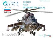 QD72019 Quinta Studio 1/72 3D Декаль для вертолёта