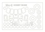 72209-1 KV Models 1/72 Набор окрасочных масок для остекления модели Мйль-8 / -17 + маски на диски и колеса
