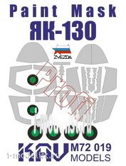M72 019 KAV models 1/72 Окрасочная маска на Як-130 PROFI (Звезда)