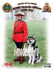 16008 ICM 1/16 Офицер Королевской Канадской Конной Полиции с собакой