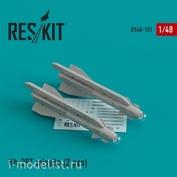 RS48-0101 RESKIT 1/48 Ракета Х-29Т (AS-14B Kedge) для Су-17/24/25/30/34/39, МuГ-27, Як-130, Мираж F1 (2 шт.)