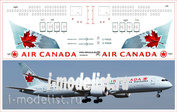787900-05 PasDecals 1/144 Scales Decal for Boeing 787-900 Air Canada