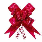 Подарочный бант-бабочка голография, Красный