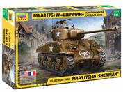 3676 Звезда 1/35 Американский средний танк М4А3 (76) W «ШЕРМАН»