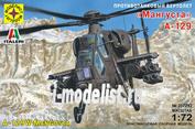 207292 Моделист 1/72 Противотанковый вертолёт А-129 «Мангуста», Италия, 1990 год.