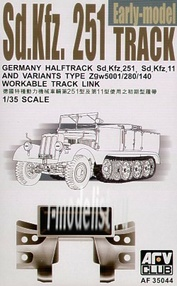 AF35044 AFVClub 1/35 Scale tracks for Sd.Kfz.Two hundred fifty one