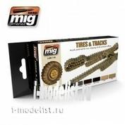 AMIG7105 Ammo Mig TIRES AND TRACKS (Шины и траки)