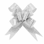 Подарочный бант-бабочка голография, Белый