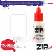 26669 ZIPmaket Краска модельная акриловая АРКТИЧЕСКИЙ БЕЛЫЙ (ARCTIC WHITE)