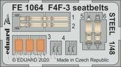 FE1064 Eduard 1/48 Набор фототравления F4F-3 стальные ремни ( HOBBY BOSS)