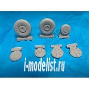 232001 HADmodels 1/32 Дополнение к модели MIG-21 MF/Bis/Um wheel set for Trumpeter kit