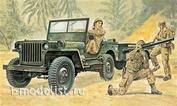 0314 Italeri 1/35 Автомобиль Willys MB Jeep with Trailer