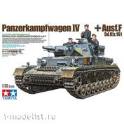35374 Tamiya 1/35 Немецкий танк Panzerkampfwagen IV Ausf.F