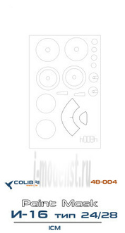 M48004 ColibriDecals 1/48 Mask for I-16 type 24/28 (ICM)