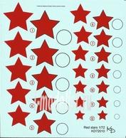 72010 KV Decol 1/72  Российские звезды, тип 3 (два листа)