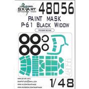 48056 SX-Art 1/48 Окрасочная маска P61A Black Widow (Hobbyboss)