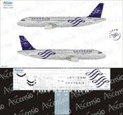 320-022 Ascensio 1/144 Декаль для airbu A320 (Skyteam)