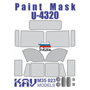 M35 023 KAV models 1/35 Painting mask for glazing U-4320 (Zvezda)