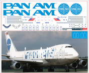 747200-01 PasDecals 1/144 Decal on Boing 747-200 Pan-Am