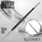 2352 Green Stuff World Brush SILVER SERIES Kolinsky-Size 00 / SILVER SERIES Kolinsky Brush-Size 00