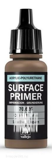 70626 Vallejo Акриловый грунт полиуретановый - кожаный коричневый (17 мл)
