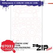 67031 ZIPmaket 1/72 Набор масок «C-123B/HC-123B/AC-123K», производитель Rode