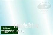 AH0018 Aurora Hobby Пластик листовой прозрачный ПВХ 0,50 мм (20х30 см), 2 листа