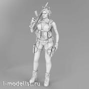 im35009 Imodelist 1/35 Фигура девушки-бойца (с ушками) с автоматом