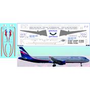 WT-003 PasDecals 1/144 Декаль с использованием белой печати на A321 (Звезда), Аэрофлот