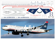 320-10 PasDecals 1/144 Decal on A320 US Air Ways