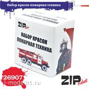 26907 ZIPmaket Набор красок пожарная техника