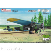 AZ14407 AZmodel 1/144 Scales Aircraft Fokker F-VIIA Military