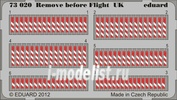 73020 Eduard 1/72 Фототравление для Remove before flight UK