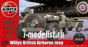 02339 Airfix 1/72 Willys British Airborne Jeep