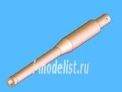 72020 Zedval 1/72 45 мм ствол-моноблок пушки 20К для Т-70