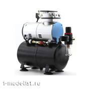 1208 JAS a Specialized compressor for airbrush manual pressure control on the output.