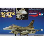 60701 Tamiya 1/72 Американский истребитель F16 Fighting Falcon