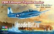 80325 HobbyBoss 1/48 Самолет Tbm-3 Avenger Torpedo Bomber