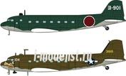 10687 Hasegawa 1/200 L2D Zero Transprt & C47 Skytrain (2 kits) Limited Edition