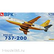 BPK7206 BPK 1/72 Самолет Boeing 737-200 7206 Lufthansa