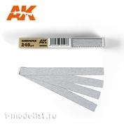 AK9022 AK Interactive Комплект наждачных полос на сухой основе 240gr