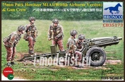 CB35173 Bronco 1/35 75mm Pack Howitzer M1A1 (British Airborne Version) & Gun Crew