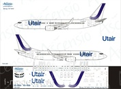 738-065 Ascensio 1/144 Scales the Decal on the plane Boeng 737-800 (UtAir (new colors 2017))