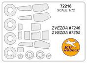 72218 1/72 KV Models a Set of painting masks for the glazing model