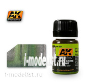 AK027 AK Interactive Mixtures for applying effects SLIMY GRIME LIGHT (bright slimy mud)