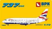 BPK7203 BPK 1/72 B737-200 British Airways