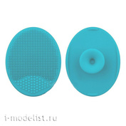 B370-01 blue MiniWarPaint Коврик для мытья кисти силиконовый, голубой